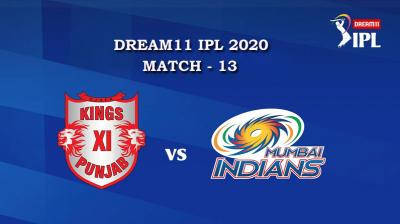 KXIP VS MI Match 13, DREAM11 IPL 2020, T-20 Match