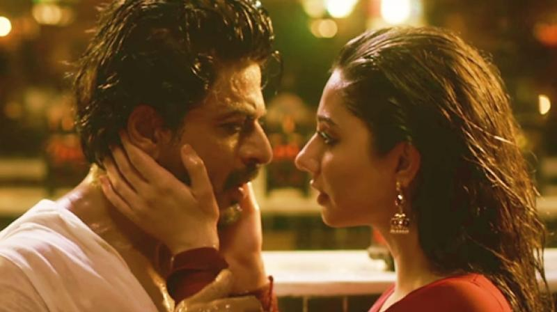 Shah Rukh Khan and Mahira Khan in a still from 'Raees.'