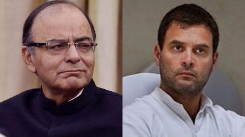 Union Finance Minister Arun Jaitley and Congress vice-president Rahul Gandhi. (Photos: PTI)