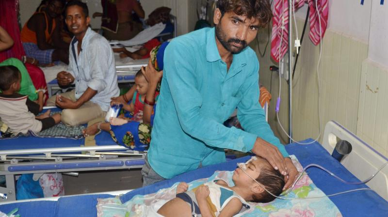 Over 60 children, mostly infants, died at BRD Medical College in Gorakhpur within the span of a week earlier in August. (Photo: PTI | File)