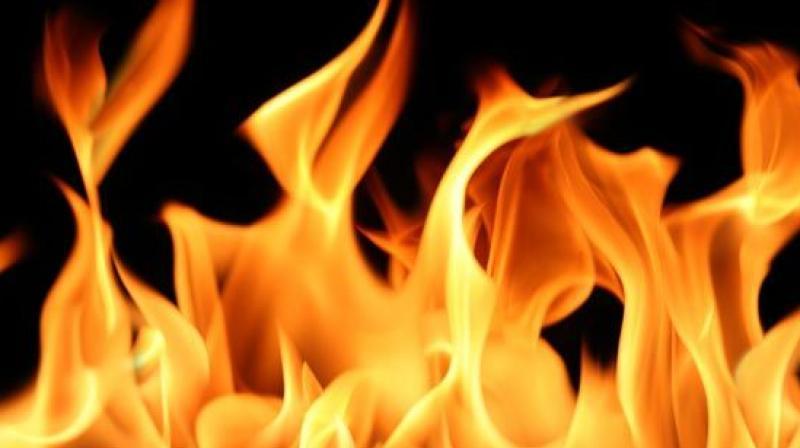 Chemical fireballs set ablaze the clogged narrow streets even engulfing passengers on rickshaws in flames.