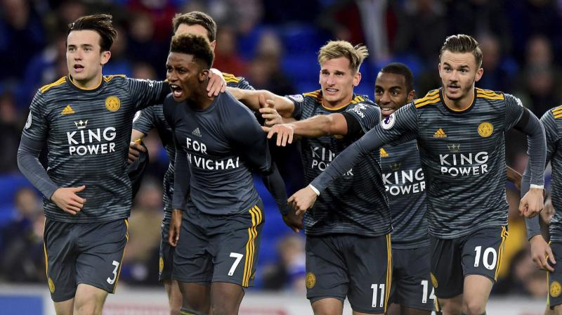 On any other weekend, the showdown between revitalised Arsenal and title-chasing Liverpool would have hogged the spotlight which instead shone on Leicester. (Photo: AP)
