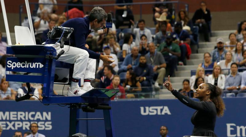 Williams, 37, was given a first code violation after umpire Carlos Ramos judged her coach Patrick Mouratoglou to be coaching -- something that is prohibited under Grand Slam rules -- as he watched the match courtside. (Photo: AFP)