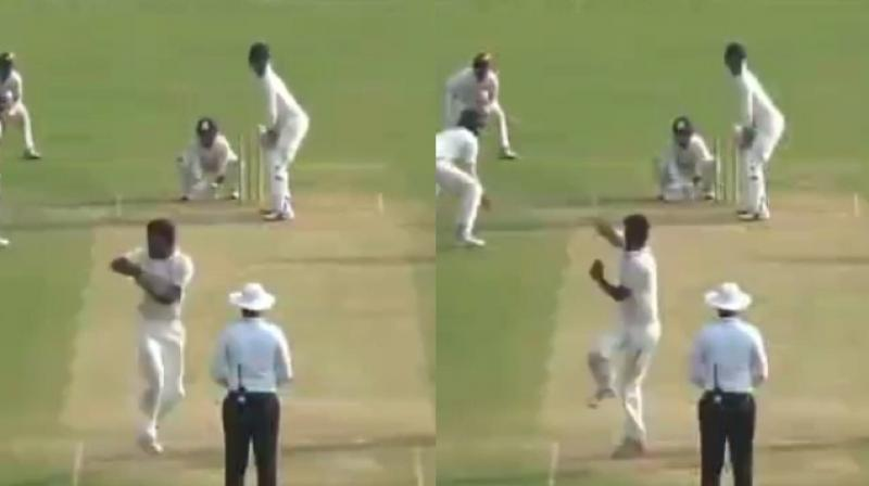There were discussions on social media that if a batsman is allowed to switch hit why can't a bowler be allowed a variation such as 360 degree rotation on delivery stride. (Photo: Screengrab)