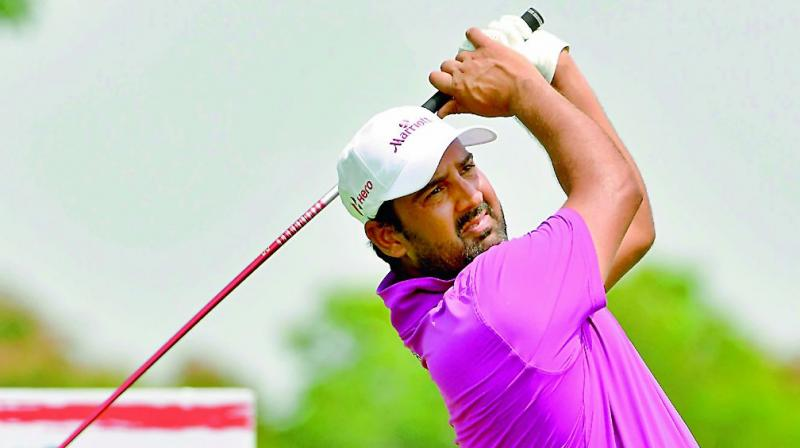Shiv Kapur in action during the final round of the Thailand Open on Sunday.(Photo: AFP)