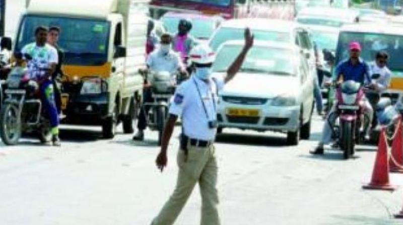 Andhra Pradesh MLA's son hits traffic inspector