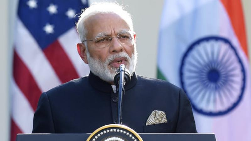 Prime Minister Narendra Modi makes a statement in the Rose Garden of the White House in Washington. (Photo: AP)