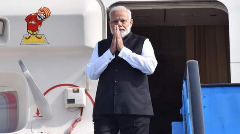Prime Minister Narendra Modi arrives at Schiphol Airport to begin the last leg of his 3-nation tour. (Photo: AP)