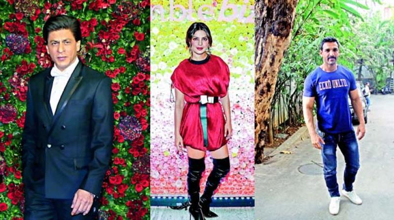 Shah Rukh Khan, Priyanka Chopra Jonas and John Abraham.