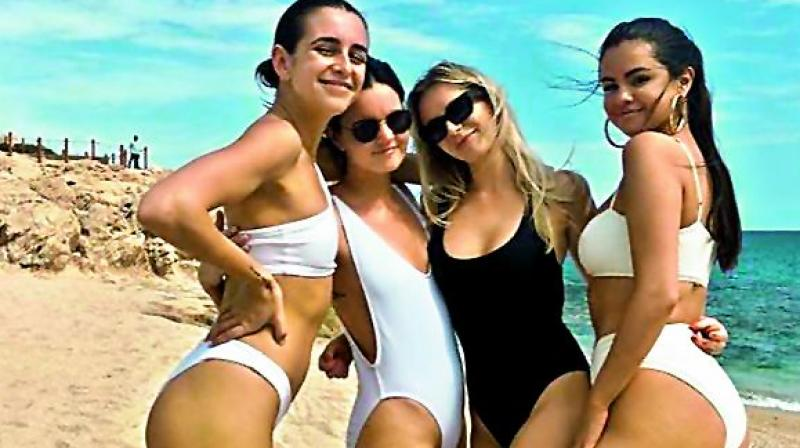 The 26-year-old singer and actress joined a group of gal pals for a tropical trip to celebrate Courtney's upcoming nuptials.