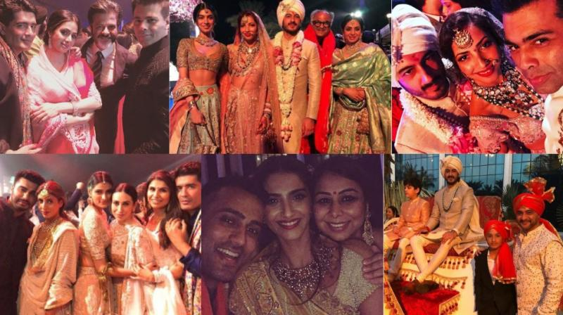 Numerous Bollywood stars were present in Waldorf Astoria Ras al Khaimah, UAE on Tuesday for the wedding of actor Mohit Marwah. (Photos: Instagram)
