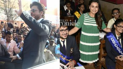 Shah Rukh Khan and Rani Mukerji were among the stars spotted at various events in Mumbai. (Photo: Viral Bhayani)