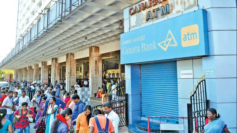 Gross NPA in Canara Bank as on September 30 this year stood at Rs 39,164 crore while the net NPA at Rs 25,166 crore. (Photo: DC)