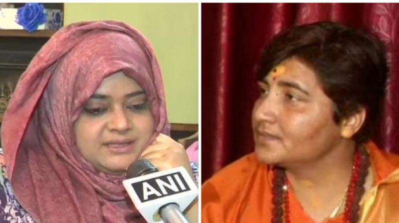 Fatima Siddique said that she would campaign for Malegaon blast accused and her party candidate from Bhopal Sadhvi Pragya if she apologizes to Muslims for her remarks. (Photo: ANI)
