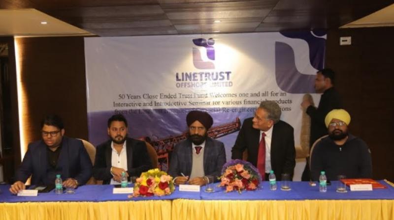 Left to Right: Mr. Raghav Kapur, Mr. Mohit Seth, Mr. Upkar Singh Ahuja (President  CICU Punjab ), Mr. Vinod Thapar (President Knitwear and Textile Club), Mr. A. S. Ranga Chief Commissioner Custom Punjab, Himachal, J and K