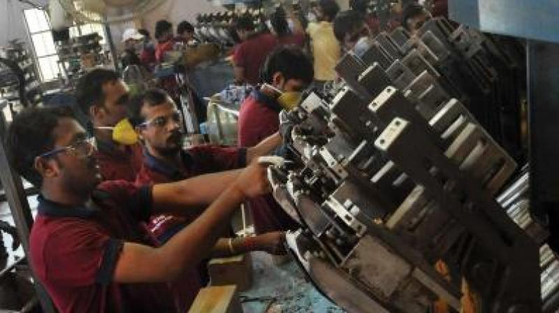 During April-December 2018-19, industrial output grew at 4.6 per cent against 3.7 per cent in the same period of the previous fiscal. (Photo: DC)