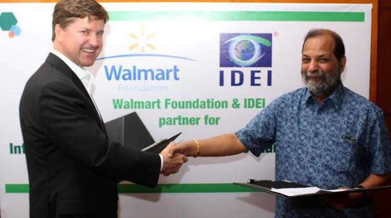 Dan Bryant, SVP, Global Public Policy and Government Affairs, Walmart and Amitabha Sadangi, CEO, International Development Enterprises-India (IDEI) today announced partnership to `Integrate Smallholder Farmers into Market Systems' to support 10,000 smal