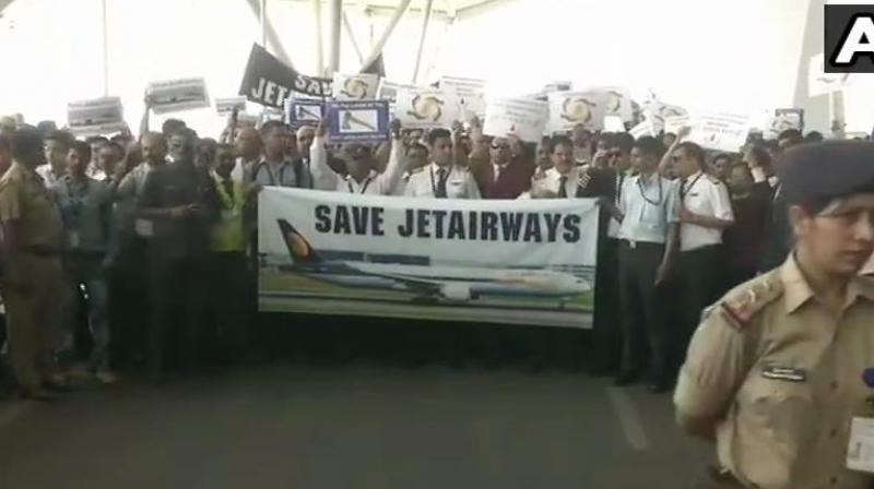 The beleaguered Jet Airways, which is flying just six-seven aircraft on Saturday, has asked its lenders to grant some