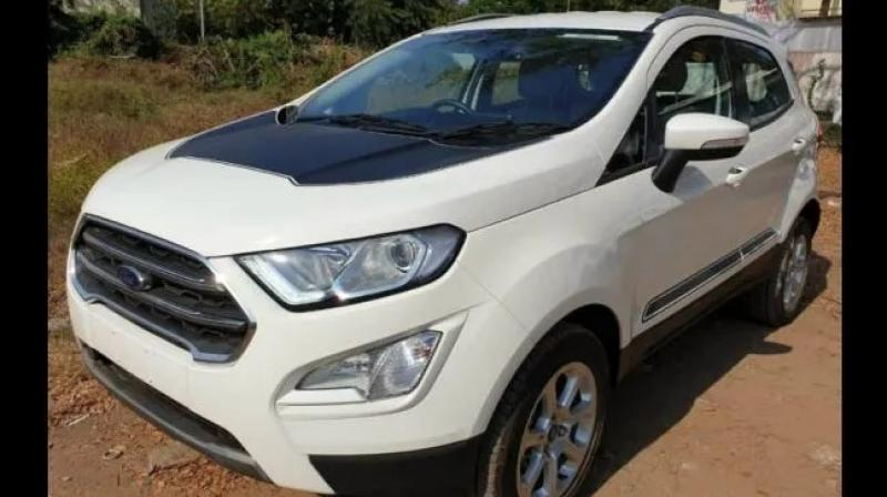 Multiple variants of the Ford EcoSport spied with new cosmetic package with 'Thunder' branding.
