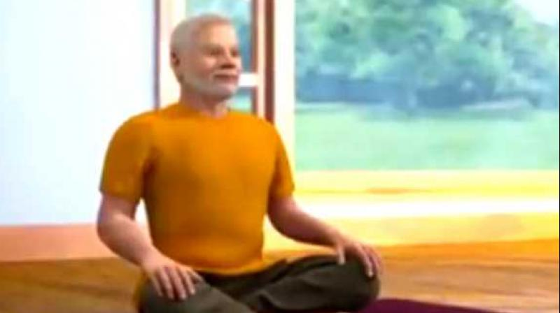 The step-by-step video on yoga meditation poses elaborates why meditation is important, how proper breathing techniques and yoga asanas help in improving concentration to meditate for longer duration. (Photo: Screengrab)