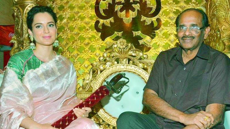 Kangana Ranaut with Vijayendra Prasad