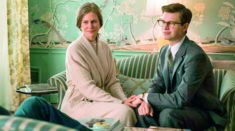 Nicole Kidman and her co-star Ansel Elgort