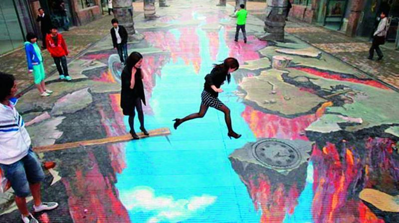 bathukamma art is not 3d