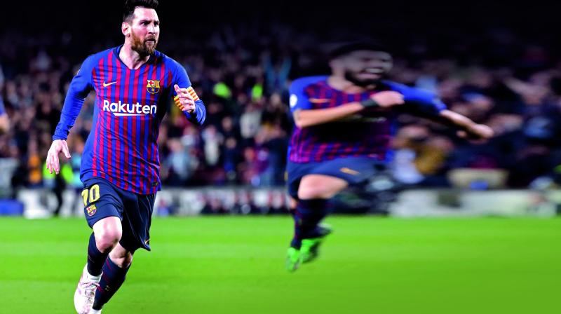 All eye will be on Barcelona star Lionel Messi in their Champions League semifinal second leg against Liverpool at Anfield on Tuesday. (Photo: AFP)