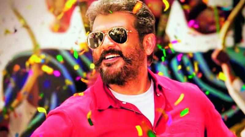 A poster of the movie Viswasam.