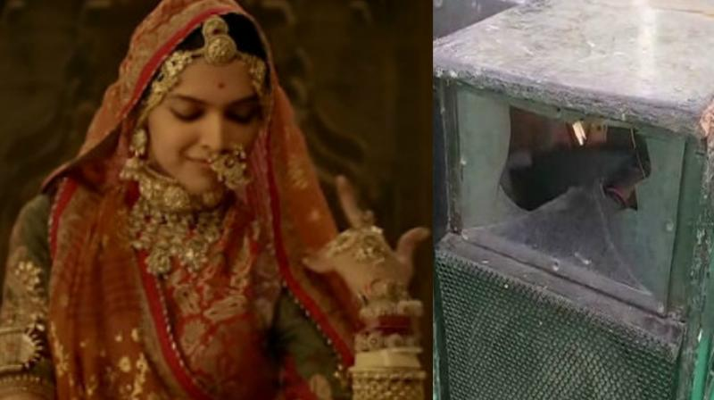 One of the speakers destroyed for playing Deepika Padukone's song 'Ghoomar.' (Photo: ANI)