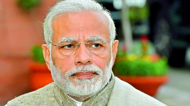 The Sena, an ally of the BJP at the Centre and in Maharashtra, slammed PM Modi for his comment in a recent interview, broadcast by several TV channels, that any government action on the temple construction can happen only after the judicial process is over. (Photo: File)