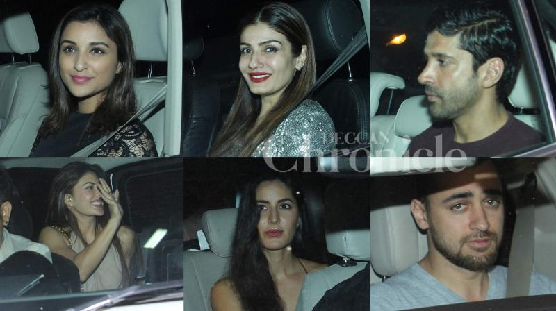 Sidharth Malhotra, one of Bollywood's most sought after young stars, brought in his 31st birthday with his friends from the industry joining him in the celebrations. (Photo: Viral Bhayani)