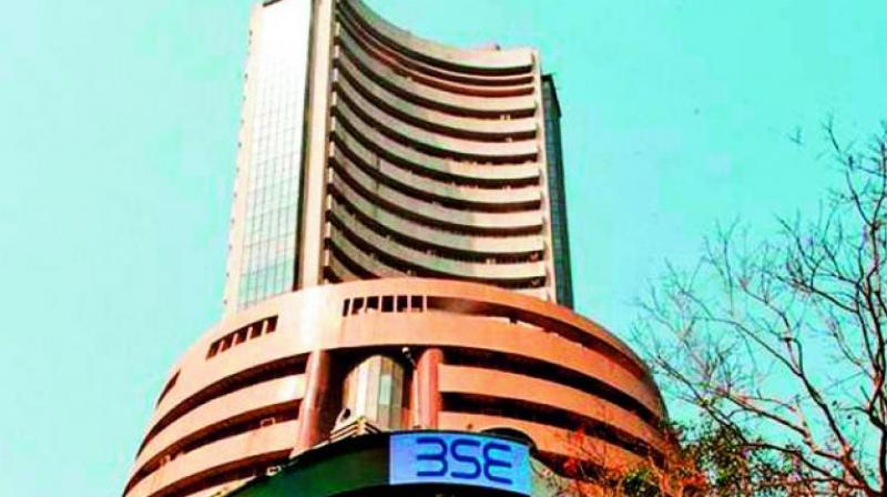 The BSE sensex swung nearly 300 points before settling 85.55 points, or 0.22 per cent, higher at 39,046.34.