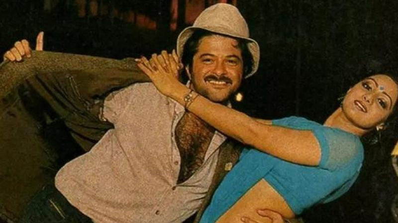 Sridevi and Anil Kapoor in 'Mr India 2.'