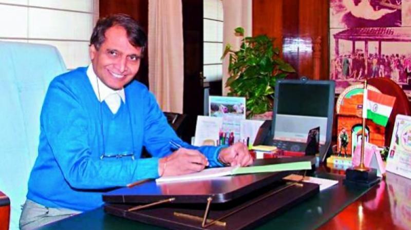 Union Minister for Railways Suresh Prabhu.