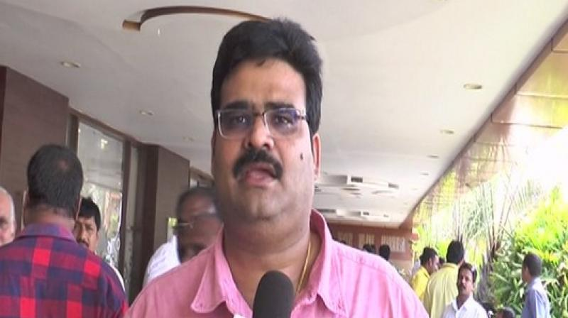 'N Chandrababu Naidu is introspecting the party's defeat in the recent State Assembly and Lok Sabha polls. Meanwhile, there are rumours and propaganda that TDP is going to use the services of Prashant Kishor's IPAC but we haven't taken any such decision. We strongly condemn this propaganda,' Dinakar said. (Photo: ANI)