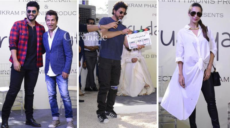 Several B-town celebrities were spotted at the Muhurat launch of Vikram Phadnis' film 'Hrudayantar'. (Photo: Viral Bhayani)