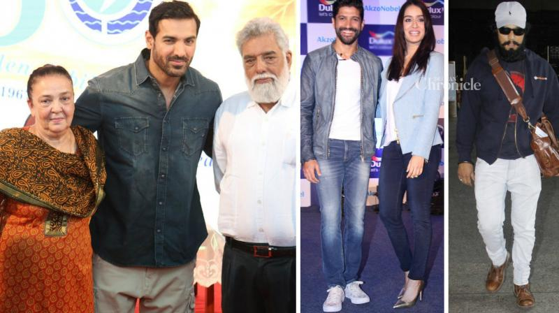 Numeorus Bollywood celebrities were spotted at various events and locations in Mumbai on Saturday. (Photo: Viral Bhayani)