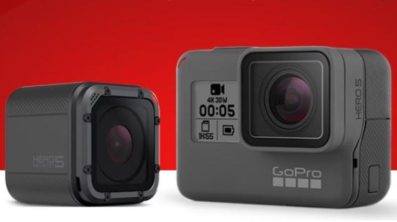 The Hero5 Black sports a 12MP sensor with the wide-angle lens, while the Hero5 Session features a 10MP sensor with the wide-angle lens.