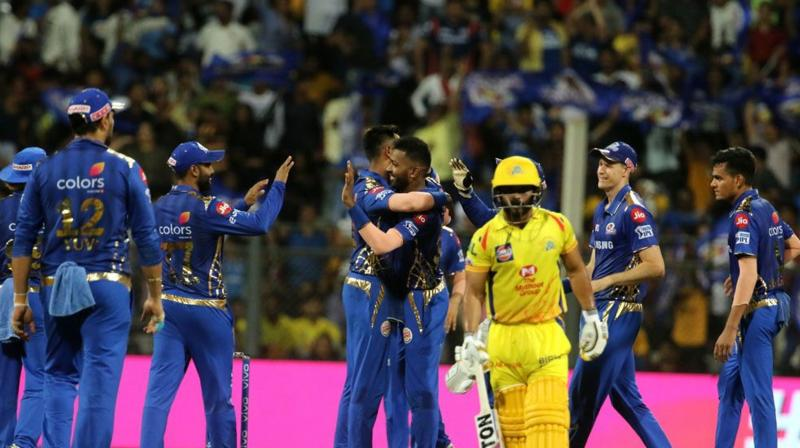 MS Dhoni-led CSK suffered a rare defeat and the first of the season as an all-round MI beat the defending champions by 37 runs. (Photo: BCCI)