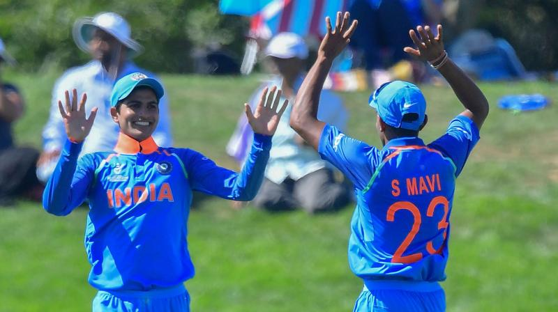 The Prithvi Shaw-led India U-19 cricket team will face Australia in the final of the ICC U-19 World Cup on Saturday. (Photo: AFP)