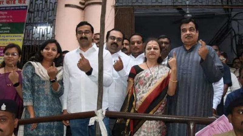 """The BJP-Sena will have a record-breaking victory and Fadnavis will be the chief minister again,"" Gadkari told reporters after voting.  (Photo: Twitter)"