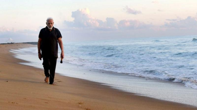Prime Minister Narendra Modi releasing a Tamil version of his poem on Mamallapuram's beauty has won appreciation from Tamil film personalities. (Photo: File)