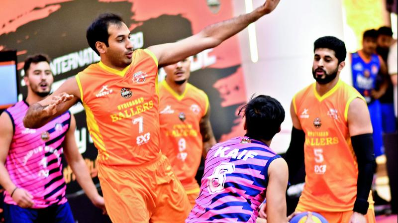 The Hyderabad Ballers team in action