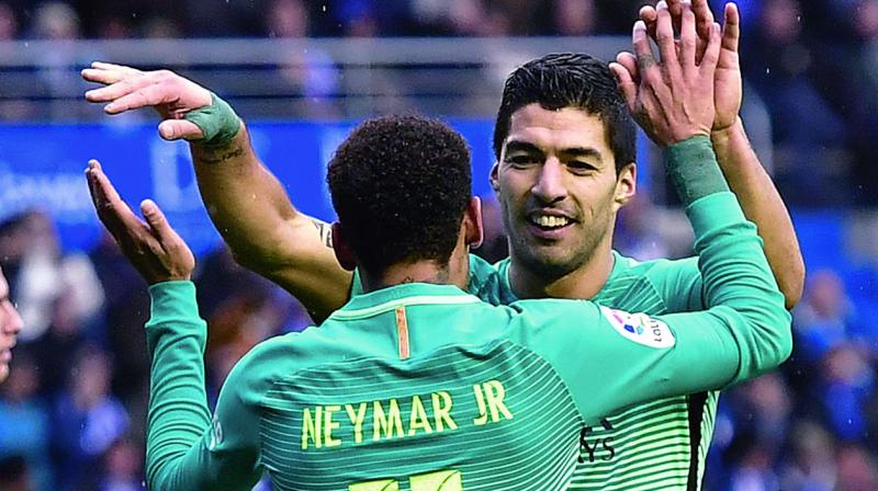 Barcelona travel to PSG for their Champions League Round of 16 first leg match in Paris on Tuesday. (Photo: AP)