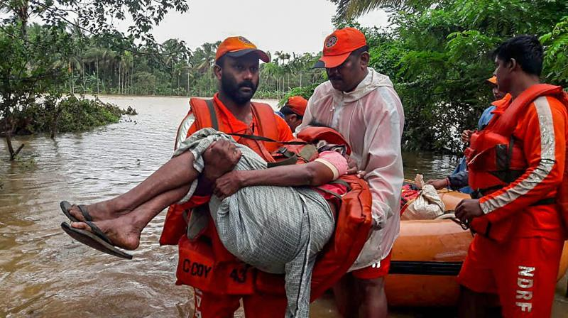 Image result for kerala flood rescue officers