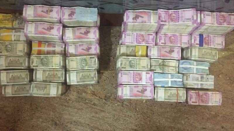 In the Hyderabad region, the raids were conducted by the department on two realtors that led to a seizure of Rs 5.10 crore of 'unaccounted cash' in the high-value denominations, (Photo: ANI/Twitter)