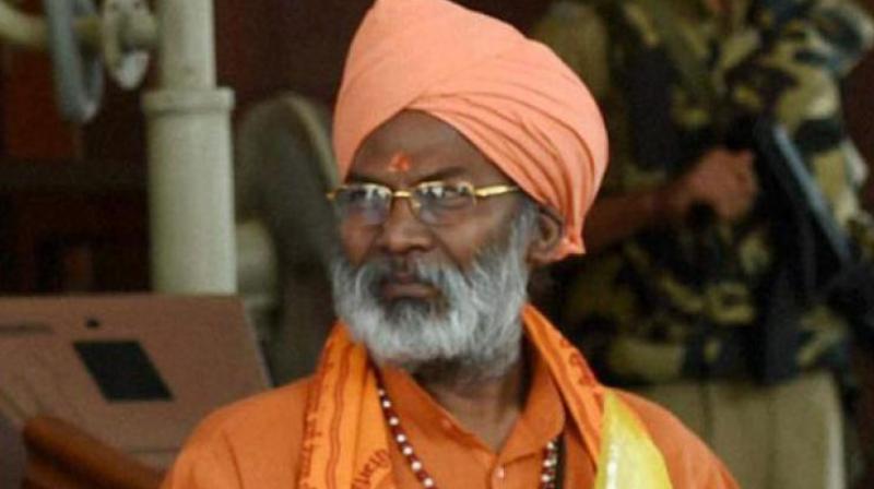 BJP MP Sakshi Maharaj said he would welcome if Samajwadi Party chief Akhilesh Yadav builds a temple dedicated to Lord Vishnu in Saifai. (Photo: File)