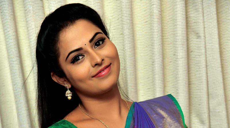 Actress Madhubala who plays Seethe, in Marali Bandalu Seethe
