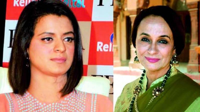 Kangana Ranaut's sister Rangoli calls out Ajay Devgan for working with Alok Nath